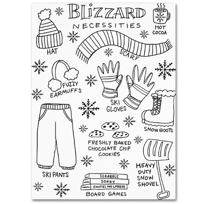 'Blizzard Necessities' Graphic Art Print on Wrapped Canvas ALI5522-C1419GG