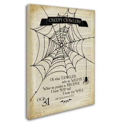 'Creepy Crawler Spider' Graphic Art Print on Wrapped Canvas ALI7499-C1419GG