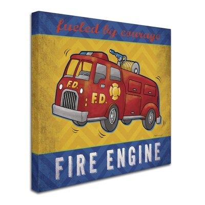 'Fire Engine' Graphic Art Print on Wrapped Canvas ALI7527-C1414GG