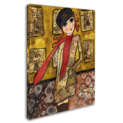 'Big Eyed City Girl' Print on Wrapped Canvas ALI8141-C1419GG