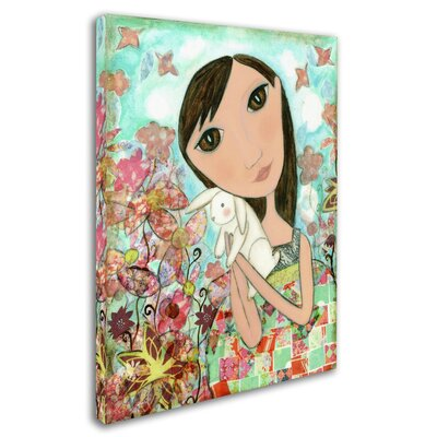 'Big Eyed Bunny Girl' Print on Wrapped Canvas ALI8140-C1824GG