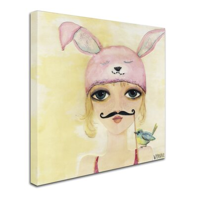'Big Eyed Girl Be Yourself' Print on Wrapped Canvas ALI8146-C1414GG