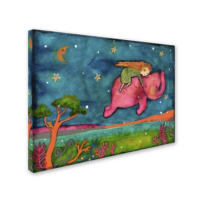 """'Come Dream with Me' Painting Print on Wrapped Canvas Size: 14"""" H x 19"""" W x 2"""" D ALI8243-C1419GG"""