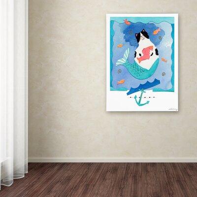 "'Mermaid Cat 1' Print on Canvas Size: 32"" H x 24"" W x 2"" D SG05807-C2432GG"