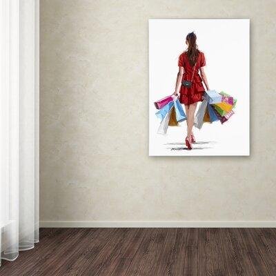 'Girl Shopping' Print on Canvas ALI8947-C1419GG