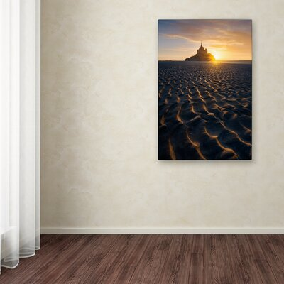 "'Golden Waves' Photographic Print on Canvas Size: 19"" H x 12"" W x 2"" D RV00107-C1219GG"