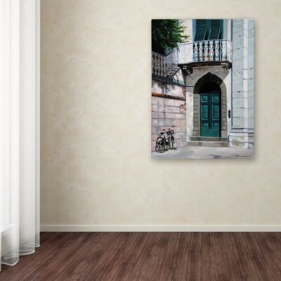 'Green Door' Print on Wrapped Canvas ALI12820-C1419GG