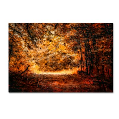 """'A Golden Journey' Graphic Art Print on Wrapped Canvas Size: 12"""" H x 19"""" W ALI14709-C1219GG"""