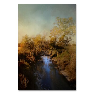 'Blue Creek in Autumn' Photographic Print on Wrapped Canvas ALI14135-C1219GG