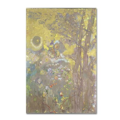 'Trees On A Yellow Background' Print on Wrapped Canvas AA01033-C1624GG