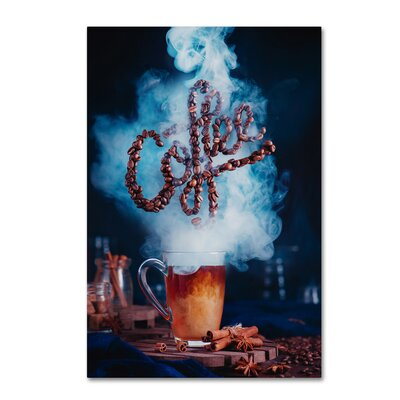 "'Smell The Coffee' Photographic Print on Wrapped Canvas Size: 19"" H x 12"" W 1X01813-C1219GG"