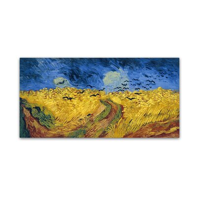 'Wheatfield with Crows' by Vincent van Gogh Print on Wrapped Canvas AA01298-C1224GG