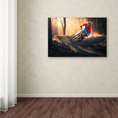 """'Golden Bermed Corner' Photographic Print on Wrapped Canvas Size: 12"""" H x 19"""" W 1X03805-C1219GG"""