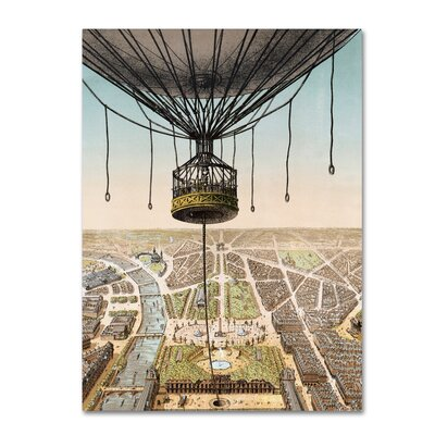 'Panorama De Paris' Graphic Art Print on Wrapped Canvas ALI18294-C2432GG