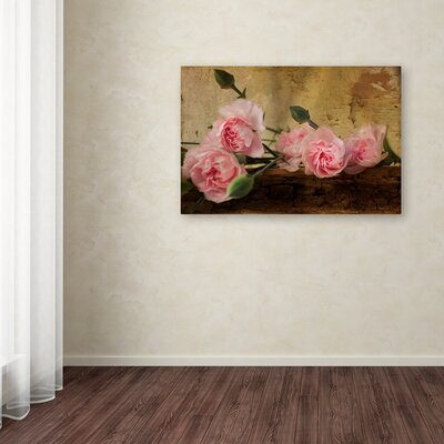 'Pink Carnations' Graphic Art Print on Wrapped Canvas ALI16013-C1624GG