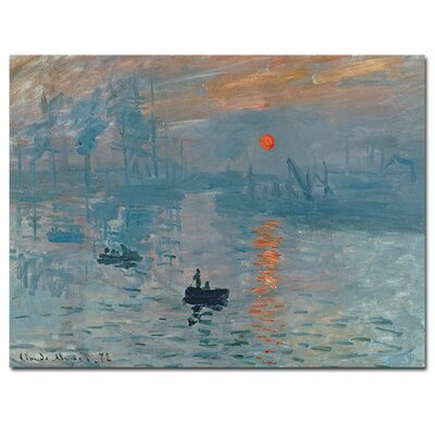 'Impression Sunrise' by Claude Monet Painting Print on Canvas BL0001-C1419GG
