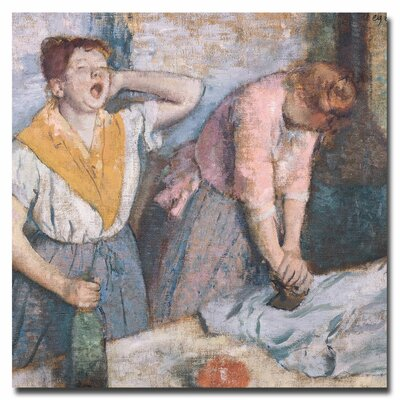 """The Laundresses, 1884"""" by Edgar Degas Painting Print on Canvas BL0248-C2424GG"""