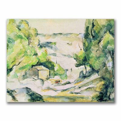 "Trademark Fine Art 24x32 inches Paul Cezanne ""Countryside in Provence"