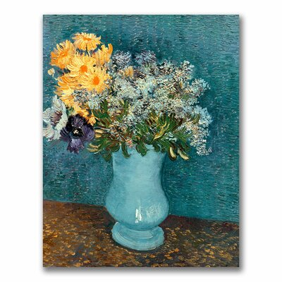 """Vase of Flowers"""" by Vincent Van Gogh Painting Print on Wrapped Canvas Size: 24"""" H x 18"""" W x 2"""" D BL0510-C1824GG"""