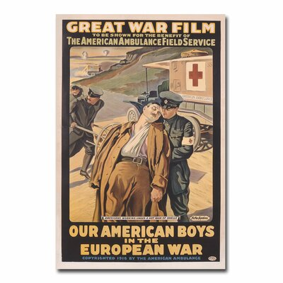 Our American Boys In The European War By Victor Tardieu Vintage Advertisement On Canvas Size 32 H X 24 W X 2 D image