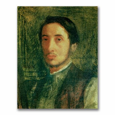 "Self Portrait as a Young Man"" by Edgar Degas Painting Print on Canvas BL0380-C1824GG"