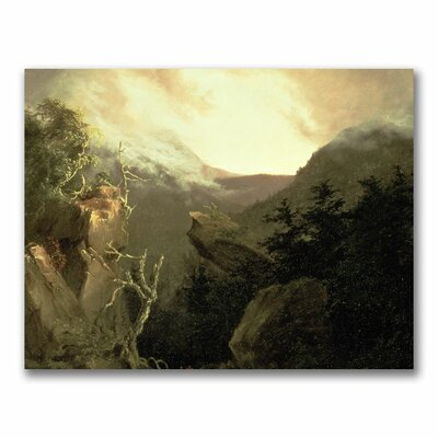 "Mountain Sunrise"" by Thomas Cole Painting Print on Canvas BL0561-C2432GG"