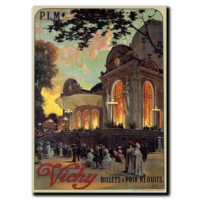 'Vichy' by Louis Tauzin Vintage Advertisement on Canvas Size: 32