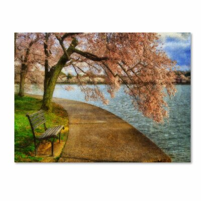 """'Meet Me At Our Bench' by Lois Bryan Photographic Print on Canvas Size: 14"""" H x 19"""" W x 2"""" D LBr0198-C1419GG"""