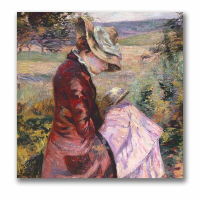 "Madame Reading, 1887"" by Jean Baptiste Guillaumin Painting Print on Wrapped Canvas BL0489-C1414GG"