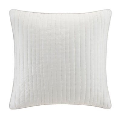 Dunster Quilted Euro Sham Color: White