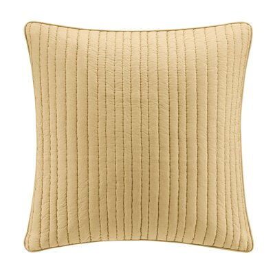 Camila Quilted Euro Sham Color: Yellow