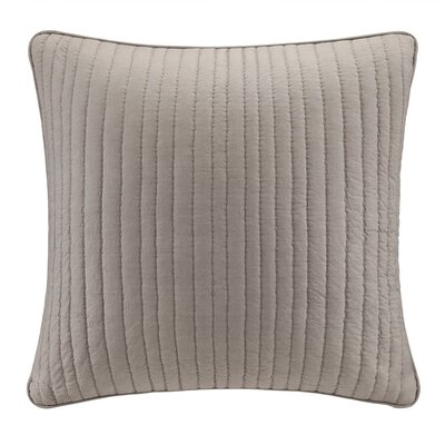 Camila Quilted Euro Sham Color: Taupe