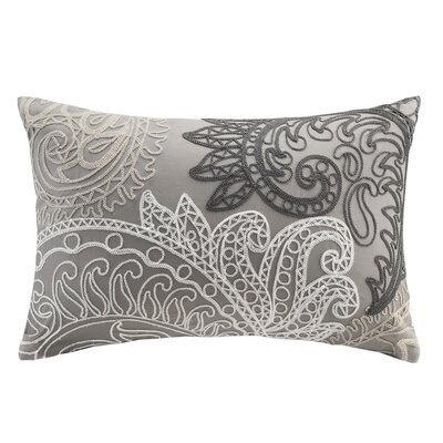 Kiran Embroidered Cotton Lumbar Throw Pillow