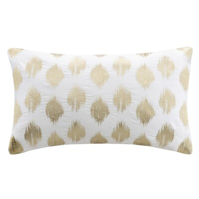 Behan Dot 100% Cotton Lumbar Pillow Color: Gold