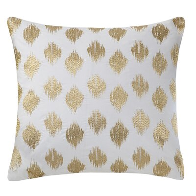 Nadia Dot 100% Cotton Throw Pillow Color: Gold