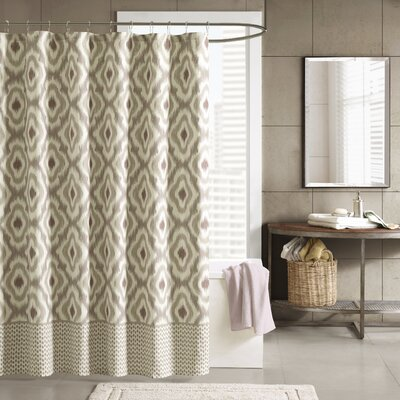 Ankara Cotton Shower Curtain Color: Taupe