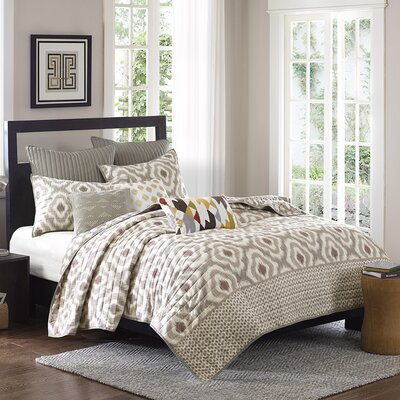 Ankara 3 Piece Coverlet Set Size: Full / Queen, Color: Natural