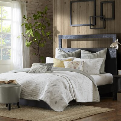 Pacific 140 Thread Count 100% Cotton Quilt Set Color: Taupe, Size: King