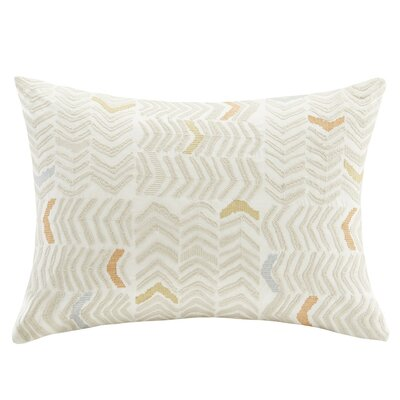 Lina Embroidered Cotton Lumbar Pillow