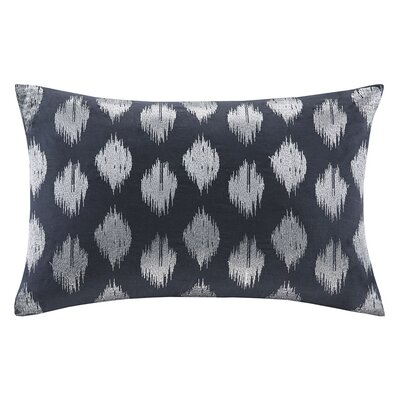 Nadia Dot Embroidered Cotton Throw Pillow Color: Navy