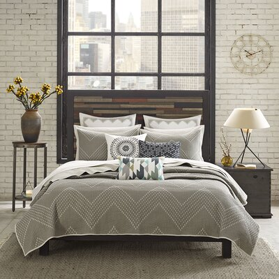 Pomona 3 Piece Coverlet Set Size: Full / Queen, Color: Taupe