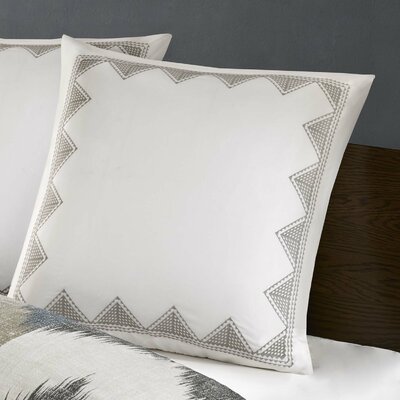Elia Embroidered Euro Sham Color: White