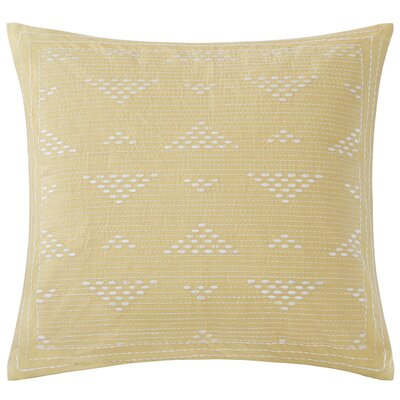 Ivette 100% Cotton Throw Pillow Color: Yellow
