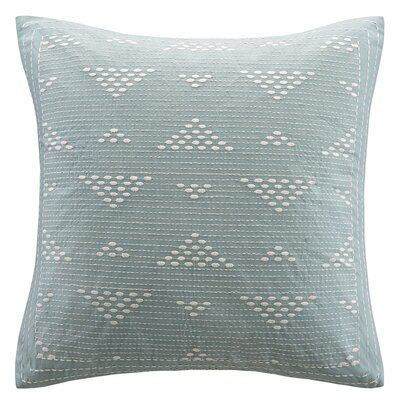 Ivette 100% Cotton Throw Pillow Color: Blue