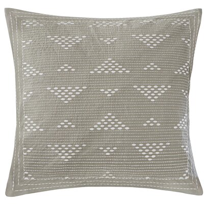 Ivette 100% Cotton Throw Pillow Color: Taupe