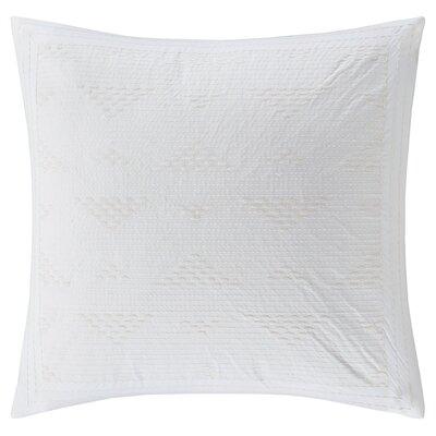 Ivette 100% Cotton Throw Pillow Color: White