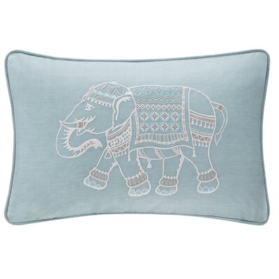 Zahira Embroidered Cotton Lumbar Pillow