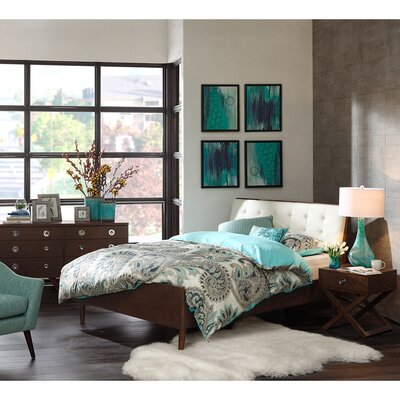 Cosmo Upholstered Platform Bed Size: Queen