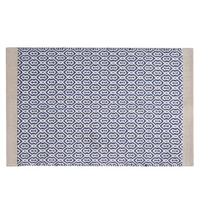 Westerlund Geometric Doormat Mat Size: 17 x 25, Color: Blue