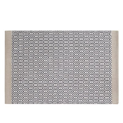 Westerlund Geometric Doormat Mat Size: Rectangle 23 x 38, Color: Gray